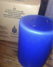 """*Retired* Partylite Royal Blue, Ocean Mist 3 wick candle 6"""" X 8"""" New Nib"""