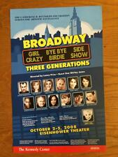 BROADWAY THREE GENERATIONS Window Card Poster SHIRLEY JONES LAURA OSNES