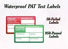 1000 PAT Test Waterproof Labels Stickers Pass and Fail Test