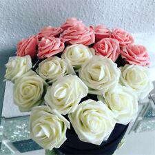50pcs Foam Rose Artificial Fake Flowers Bunch Bride Bouquet Wedding Home Party