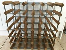 Wine Rack for 36 bottles (6 x 6). Wood and Metal frame. COLLECTION ONLY.