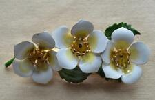 Vintage Signed ORIGINAL by ROBERT Goldtone Enamel FLOWERS Pin Brooch