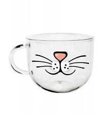 Прекрасный стеклянный Кубок Кот лицо кружки кофе чай молочный завтрак кружка креативная посуда