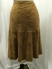 VS 2 BY VAKKO CAMEL SUEDE SKIRT SIZE 12