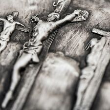 2015 Biblical Series Crucifixion 2 oz Silver Antiqued Finish High Relief US Coin