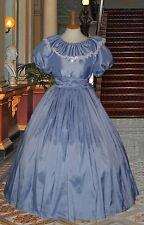 Ladies Victorian  American Civil War 3pc pale blue costume fancy dress 6-32