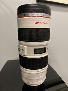 National Geographic Silver Black 16oz Lens Photo Mug Tumbler Authentic Original