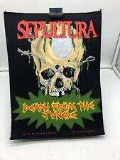 More details for vintage 80s 90s original rock metal back patch sepultura death from the jungle