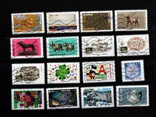 Lot de 16 timbres oblitérés de l'année 2018 - lot n°3
