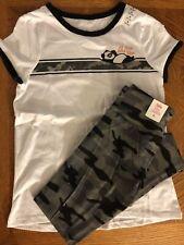 New ListingJustice Girls Size 8 Set/Outfit Shirt/Top & Leggings Panda Gray Camo