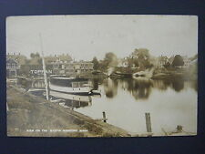 Medford MA View Mystic Toppan Boat Dories Lunnches Real Photo Postcard RPPC 1914