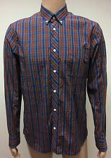 (Used) Mens Fred Perry Long Sleeve Button Front Shirt Size: M Checks