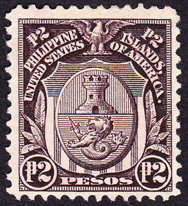 Philippines - 1911 - 2p Violet Brown Manila City Arms Issue # 272 Mint Fine +