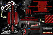 TRAXXAS E-REVO SUMMIT CHASSIS PRINTED CARBON FIBER HOP UP GRAPHICS DECALS RED