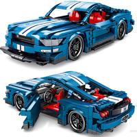 Custom Technic Mustang Car 42056 42083 42099 42110 Bausteine Blöcke MOC