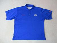 Columbia PFG Florida Gators Polo Shirt Adult Extra Large Blue UF Football Mens *