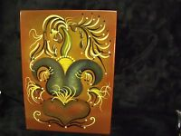 """Jessica L. Fries Signed  Signed Oil on Wood 7"""" BY 10"""" Folk Art Painting"""