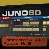 JUNO 60 JUNO 6 REASON REFILL 114 COMBINATOR & NNXT 940 SAMPLES MAC PC MPC FL