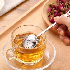 Tea Infuser Stainless Steel Heart Shape Spoon Tea Strainer Herbal Filter Handle