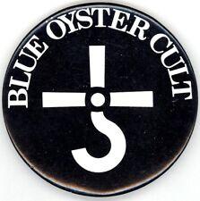 Blue Oyster Cult Original 1980 Black & Blue Tour Vintage BOC Logo Button Pin
