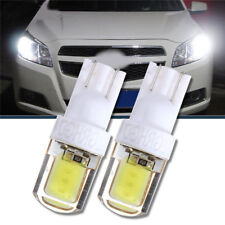 2x T10 W5W COB LED Car Super Bright silica gel License Plate Light Bulb White