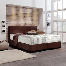handgearbeitete betten mit matratze aus kunstleder g nstig. Black Bedroom Furniture Sets. Home Design Ideas