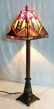 Stickley Era Mission Arts & Crafts Contemporary Manufacture Stained Glass Lamp
