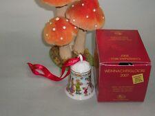 """Hutschenreuther Weihnachtsglocke 2007 Jubiläumsglocke """" Im Rentierland"""""""