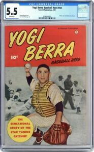 Yogi Berra #0 Fawcett 1951 CGC 5.5 New York Yankees Star Catcher Photo Cover