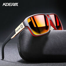 Kdeam Clásicas para Hombres Gafas de sol polarizadas fortalecer TAC Espejo antideslumbrante UV400