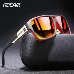 KDEAM Classic Men Polarized Sunglasses Strengthen TAC Mirror Anti-Glare UV400
