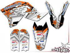 KTM SX-F EXC SMR 125 150 250 300 400 450 505 | 07-11 SILVER STAR DEKOR DECAL KIT