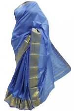 ASB3453 Turquoise and Gold Art Silk Saree Art Silk Saree Curtain Fabric