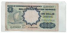 Malaya & British Borneo 1959 1 Dollar Note