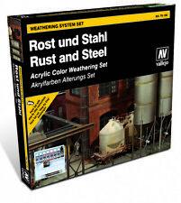 AV Vallejo - Rust & Steel Model Color Paint Set # 70150
