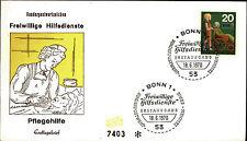 Ersttagsbrief FDC 1970 Sonderstempel Bonn Freiwillige Hilfsdienste Pflegehilfe