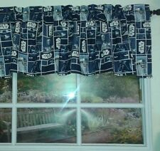 Star wars on blue squares Valance 14x43