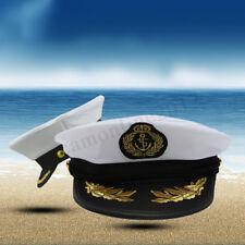 Unisex Skipper Ship Sailor Navy Yacht Military Captain Nautical Hat Cap Period