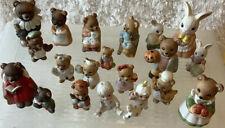 Homco Figurines. Lot-20 Bear, Rabbit, Child, Seasonal, Numbered