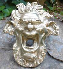 Bronze Ornemental ancien Tête de Faune type Architecture Fontaine