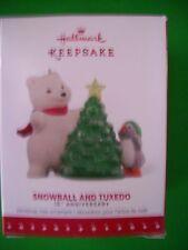 "2007 HALLMARK KEEPSAKE SNOWBALL & TUXEDO""15TH ANNIVERSARY""CHRISTMAS ORNAMENT NIB"