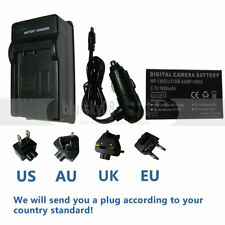 Battery + wall&car Charger for NP-120 Minolta MN80NV Digital Camcorder 1208960