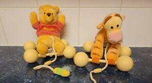 NEW Disney Baby WINNIE the POOH TIGGER Rattle Plush Stuffed Animal Lot 2