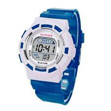 Waterproof Mens Boys Digital LED Sports Date Watch Kids Alarm Watches Gift X4