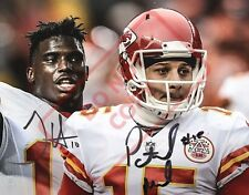 8.5x11 Autographed Signed Reprint RP Photo Patrick Mahomes Tyreek Hill KC Chiefs