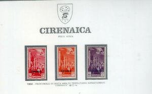 cirenaica1932 posta aerea soprastampati