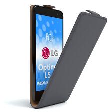 Tasche für LG Optimus L5 II - E450 / E455 / E460 Flipcase Hülle Etui Anthrazit