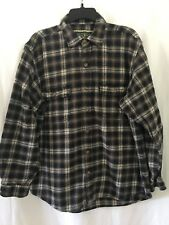 Field & Stream Heavy Lumberjack Cotton Flannel Button-down Shirt Large Black Tan