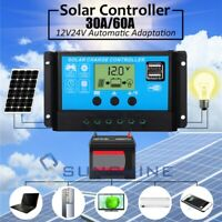 LCD 12V/24V Auto Work Solar Charge Controller PWM Cell Panel Charger Regulator