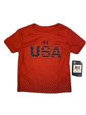 Under Armour Toddler Boys Short Sleeve Tee 12 Months red USA